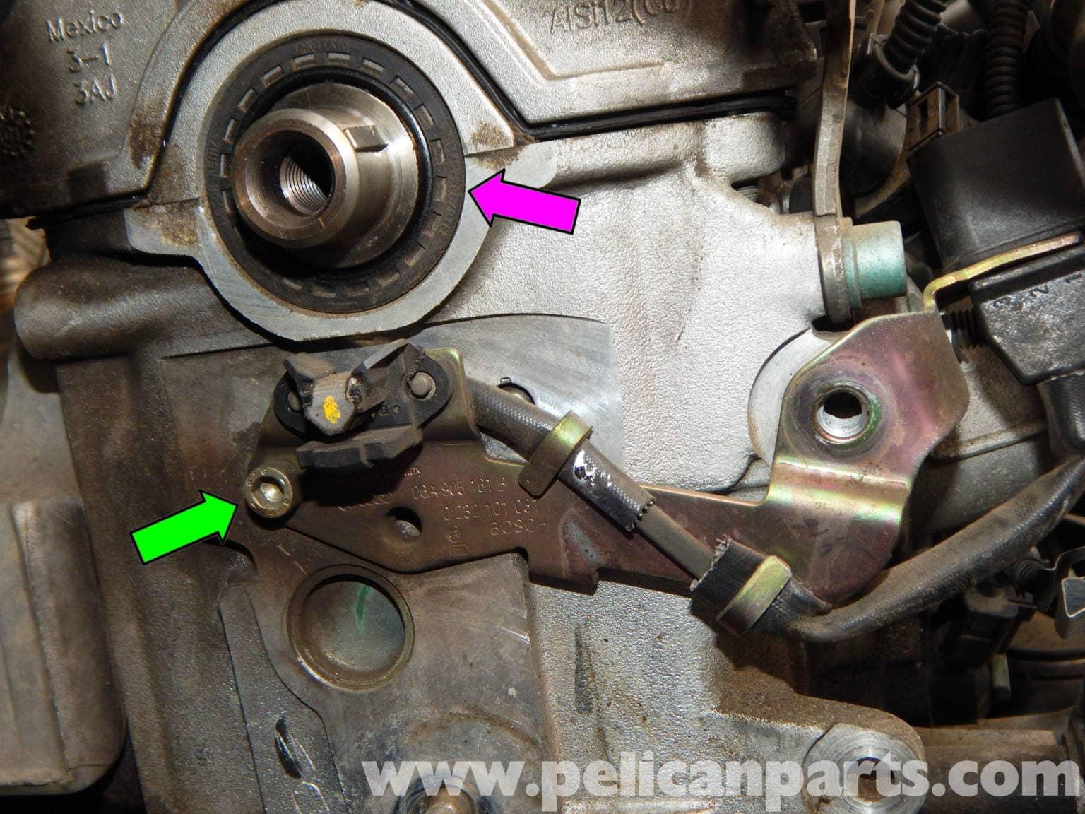 Volkswagen Jetta Mk4 Camshaft Position Sensor Replacement | Jetta Mk4 2.0L (1998-2005) | Pelican ...