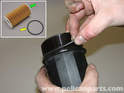 The Volvo C30 uses a cartridge type oil filter system.