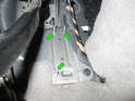 ThisPicture shows the retaining studs (green arrows) with the accelerator pedal module removed.