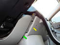 Pull the trim piece (yellow arrow) on the center console straight out so you can pull the lower dash panel (green arrow) out from behind.