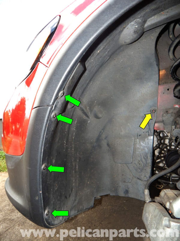 Volvo C30 Front Wheel Well Removal 2007 2013 Pelican