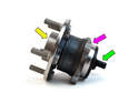 Shown here is the rear wheel bearing assembly for the Volvo C30.
