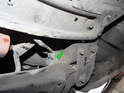 The connector for the harness is located up above the front subframe.