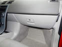 Shown here is the glove box on the Volvo C30.