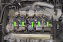 Volvo V70 models utilize an individual ignition coil for each spark plug, referred to as coil over plug.