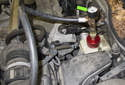 Then install the pressure bleeder adapter to the brake master cylinder.