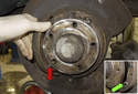Remove the front parking brake shoe from the vehicle.