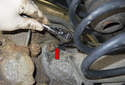 Rear sensor: Working behind the rear brake rotor, clean out the Torx fastener using a small pick.