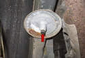 Inspect the upper spring pad for wear or damage.
