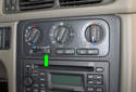 Turn the key ON and set the blower speed to HIGH (green arrow).