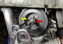 Remove the crankshaft pulley.