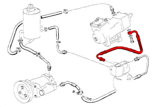 power steering hose 32411133174 - genuine bmw