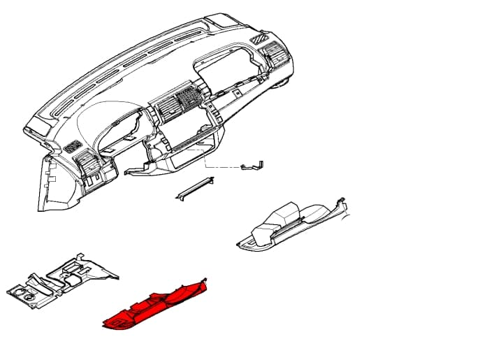 lower left trim panel 51458244295 - genuine bmw