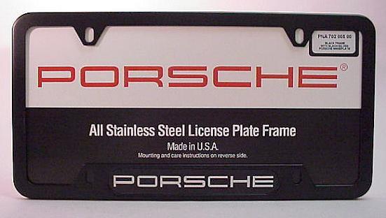 Porsche Factory License Plate Frames - PelicanParts.com