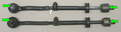 When you remove the old tie rod, make sure that you line it up with the new one, and set the lengths of the two rods to be equal.