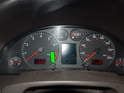 Now press the left button (green arrow) on the instrument cluster.