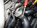 A 5mm hex socket as shown here works well in removing the bolts due to the clearance with the turbo feed pipes.