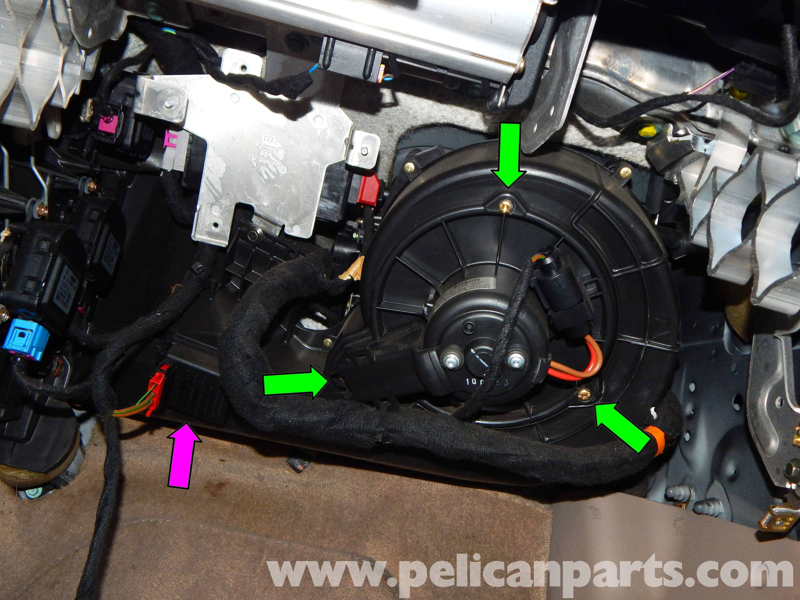 Pelican Technical Article Audi A6 C5 Hvac Blower Motor And