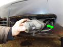 Left and Right sides: Pull the fog light out to access the electrical connector on the rear.