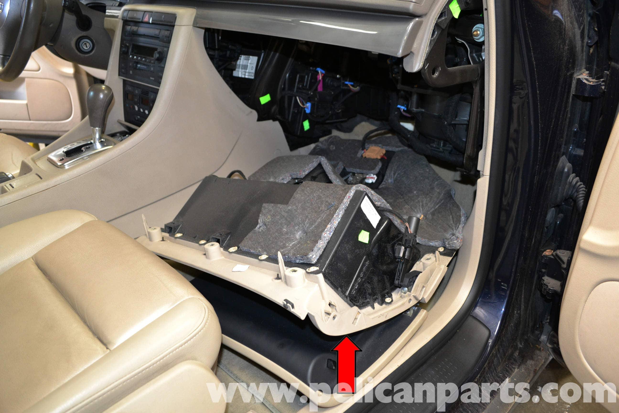 Audi A4 B6 Glove Box Fuse Car Wiring Diagrams Explained 2002 Tt Diagram Removal 2008 Pelican Parts Diy Rh Pelicanparts Com 2006 A3 A6 Location