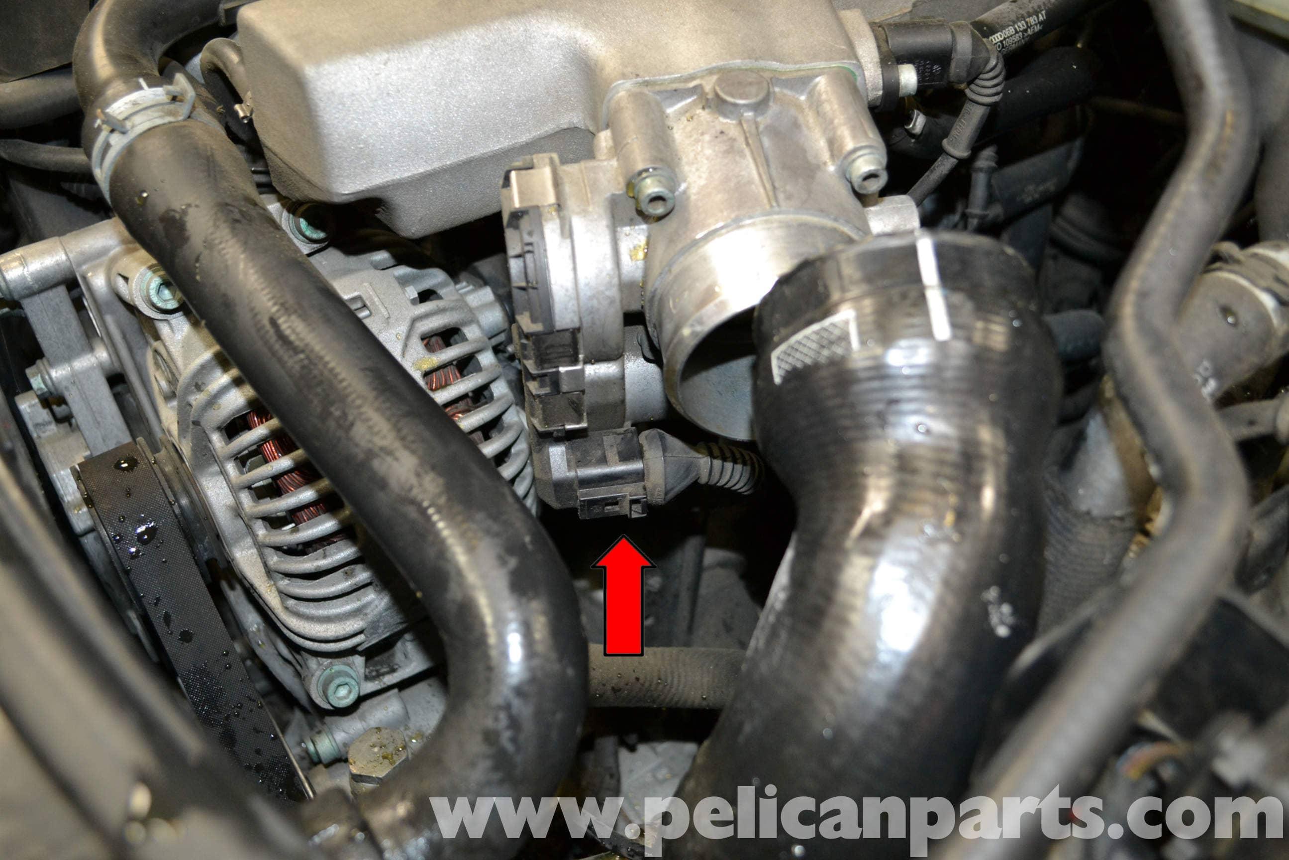 audi a4 b6 throttle body cleaning 2002 2008 pelican parts diy rh pelicanparts com Audi A4 Service Manual Bentley 2001 Audi A4 1.8T Interior
