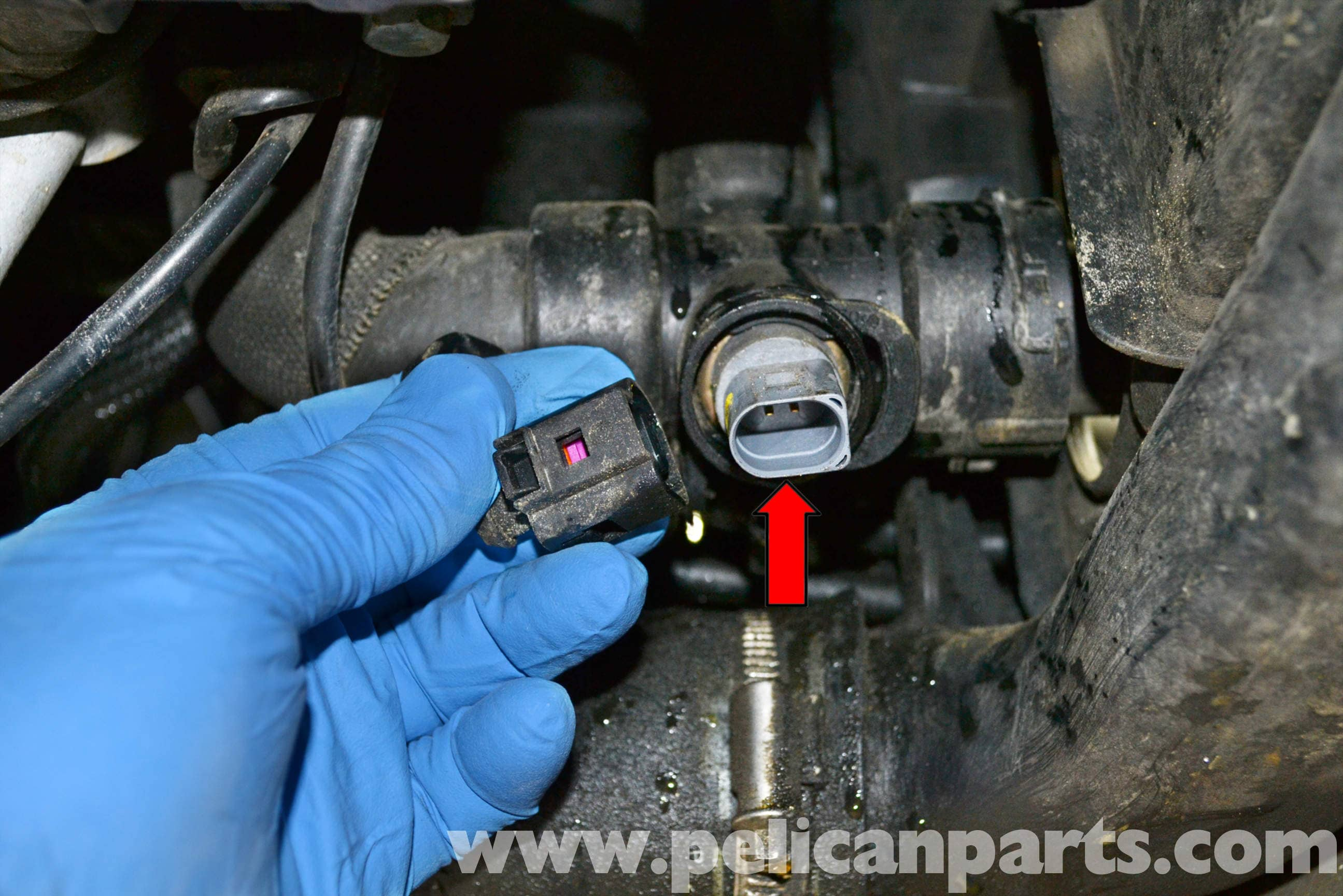 audi a4 b6 coolant temperature sensor replacement  2002