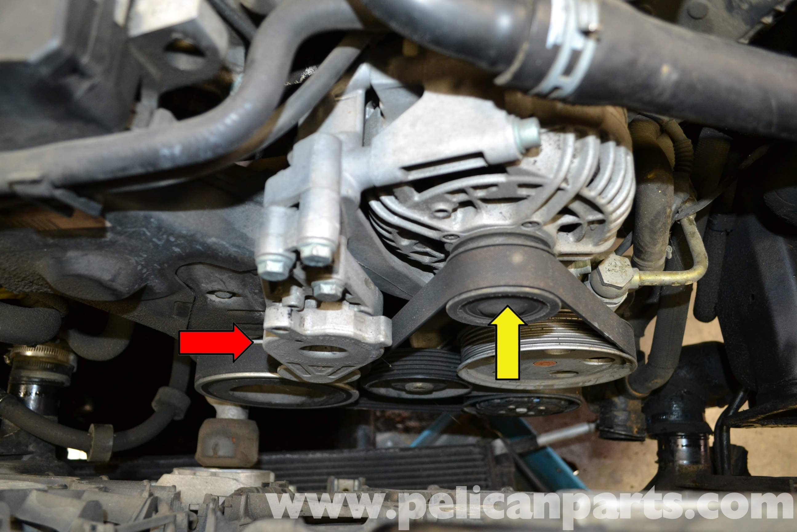 Audi A4 B6 Accessory Belt Tensioner Replacement 2002 2008 Timing Saab 9 5 01 Large Image Extra