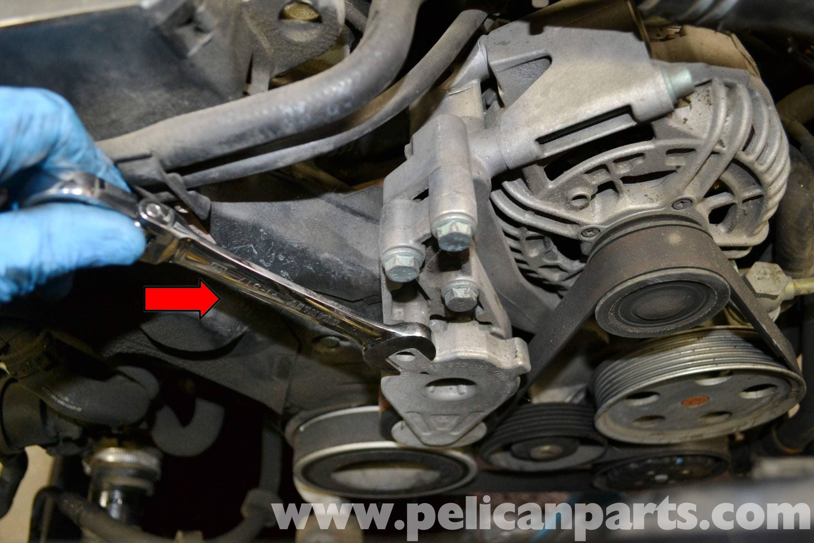 audi a4 b6 idler pulley replacement 2002 2008 pelican parts diy rh pelicanparts com 2001 Audi A4 1.8T Audi A4 Repair Manual