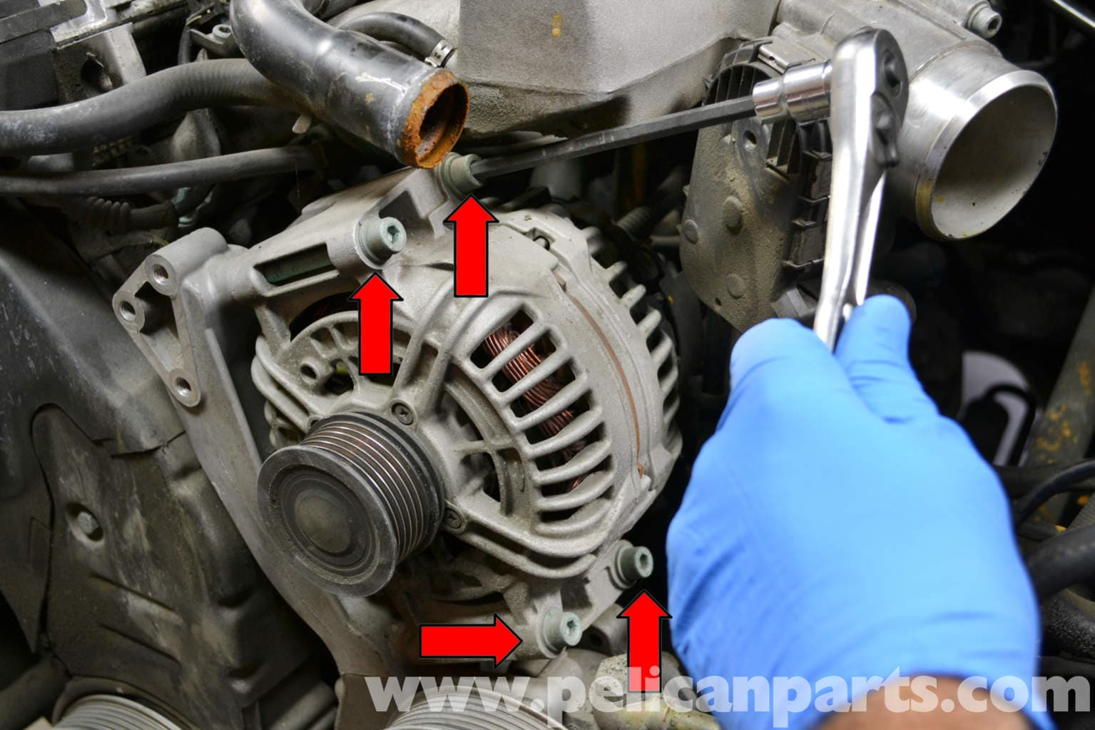 Audi A4 B6 Alternator Replacement  1 8t 2002
