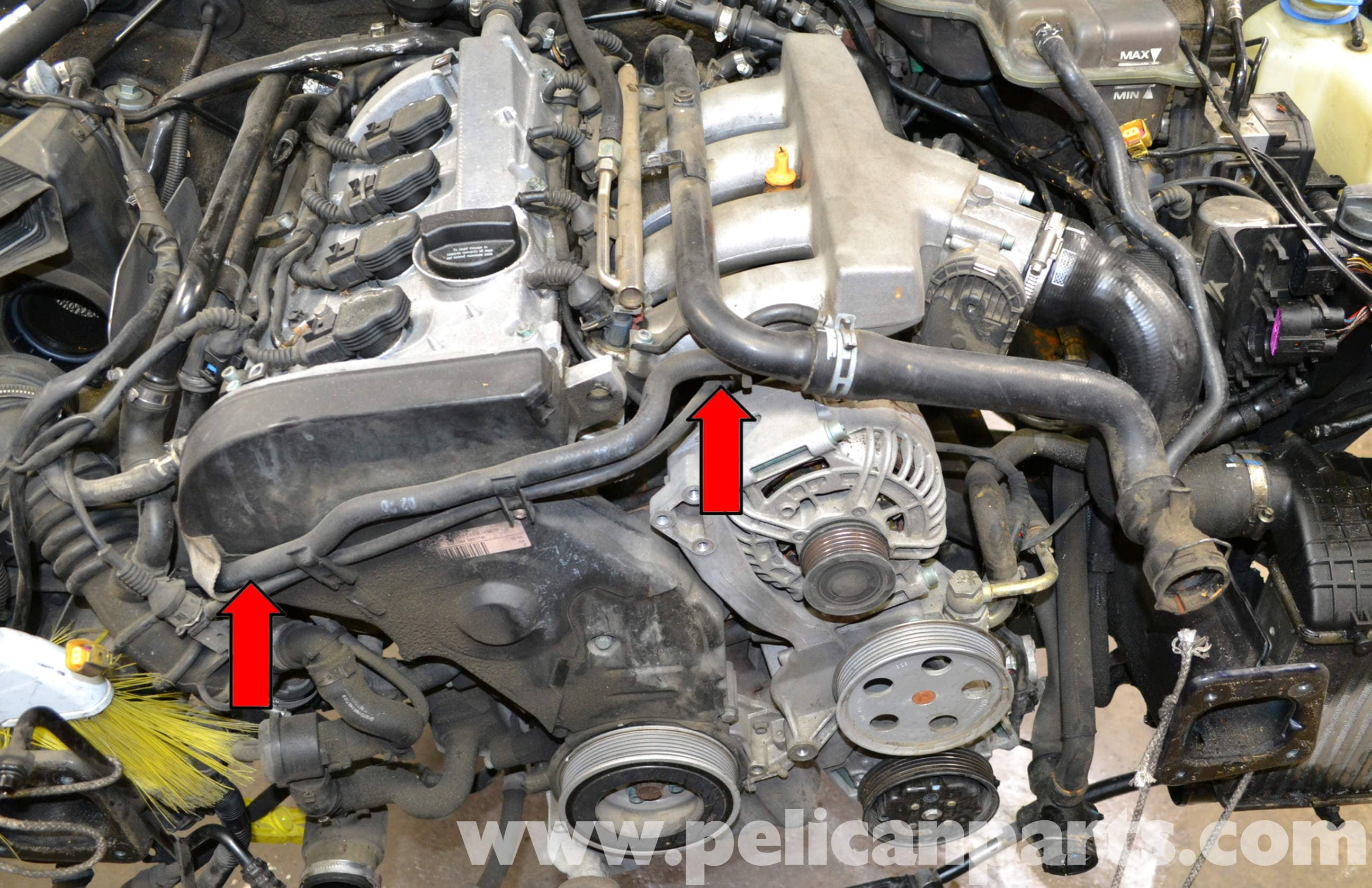 Audi A4 B6 Radiator Hoses Replacement 1 8t 2002 2008 border=
