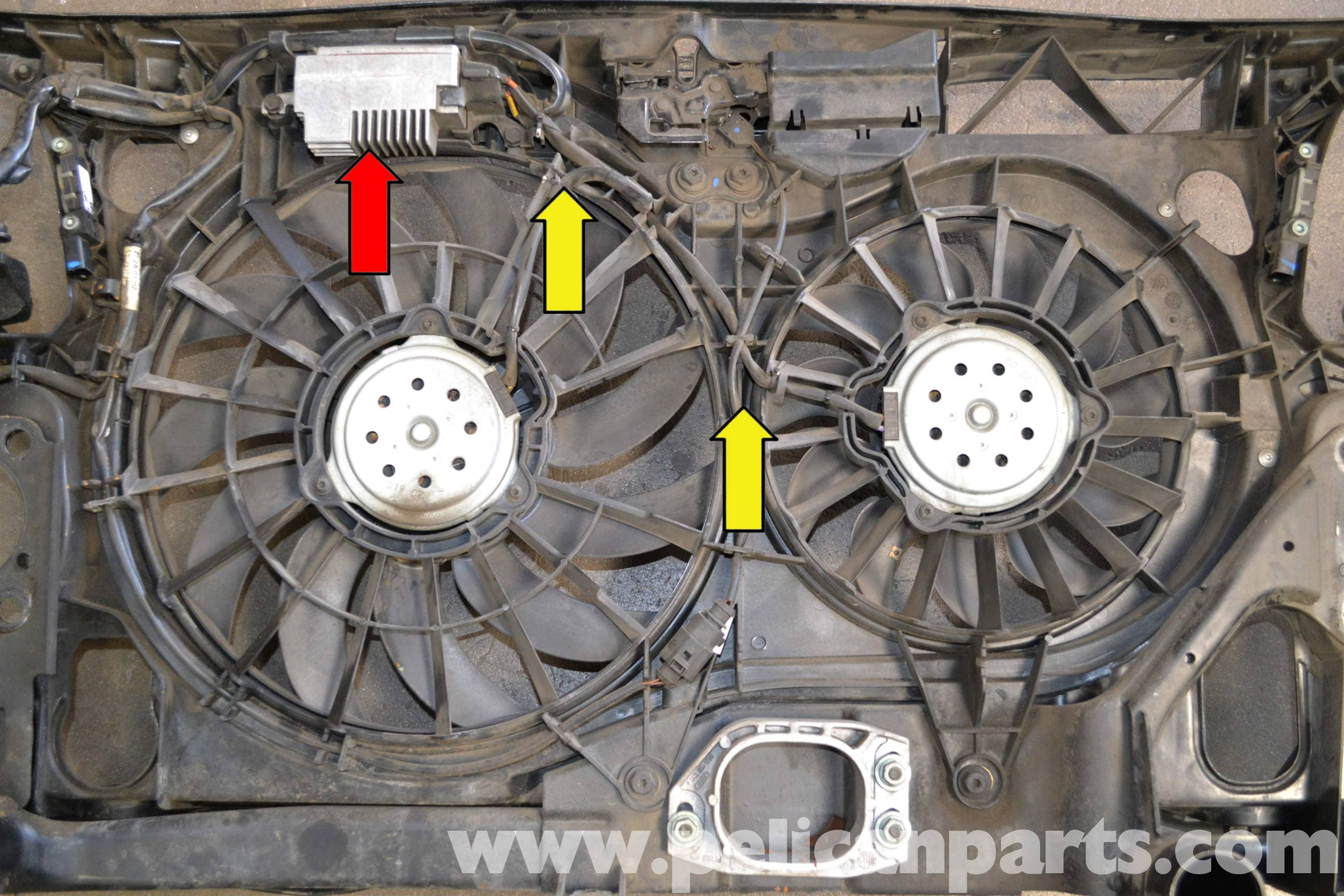 audi a4 b6 fan and shroud replacement 2002 2008 pelican parts rh pelicanparts com 1999 Audi A4 Oil Type 1999 Audi A4 1.8 Turbo