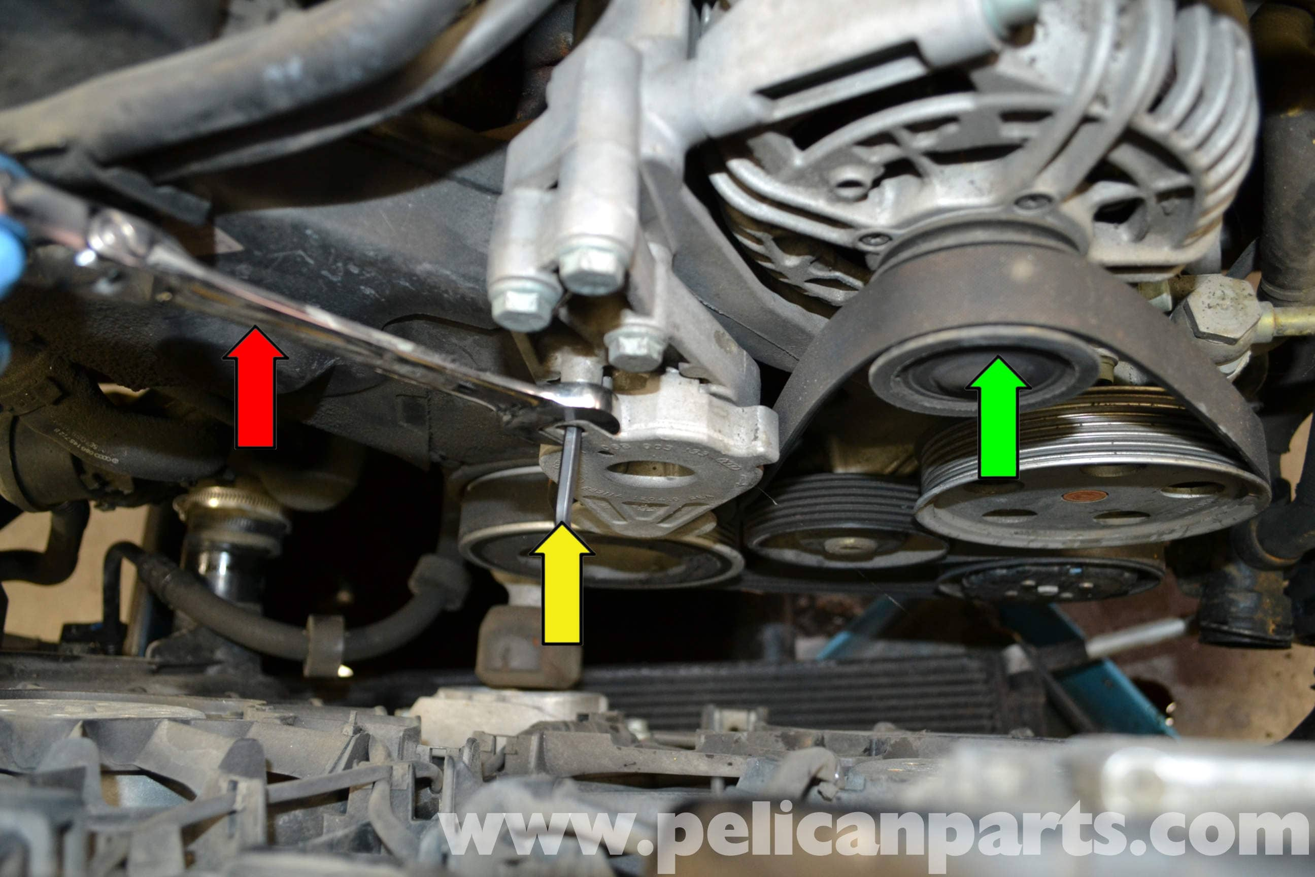 Audi A4 B6 Thermostat Replacement 2002 2008 Pelican Parts Diy 2005 3 2 Timing Large Image Extra