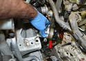 There are areas on the coolant pump that you can use a flathead screwdriver and gently pry the pump away from the motor.