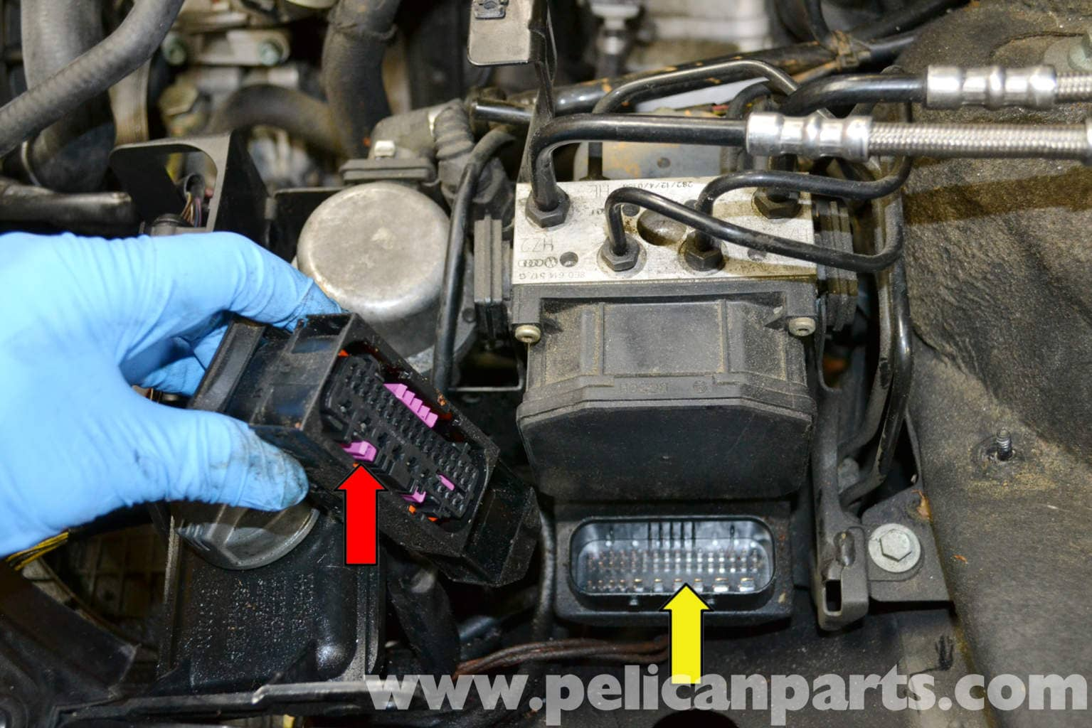 Audi A4 B6 Abs Control Module Replacement 2002 2008 Pelican Parts Diy Maintenance Article