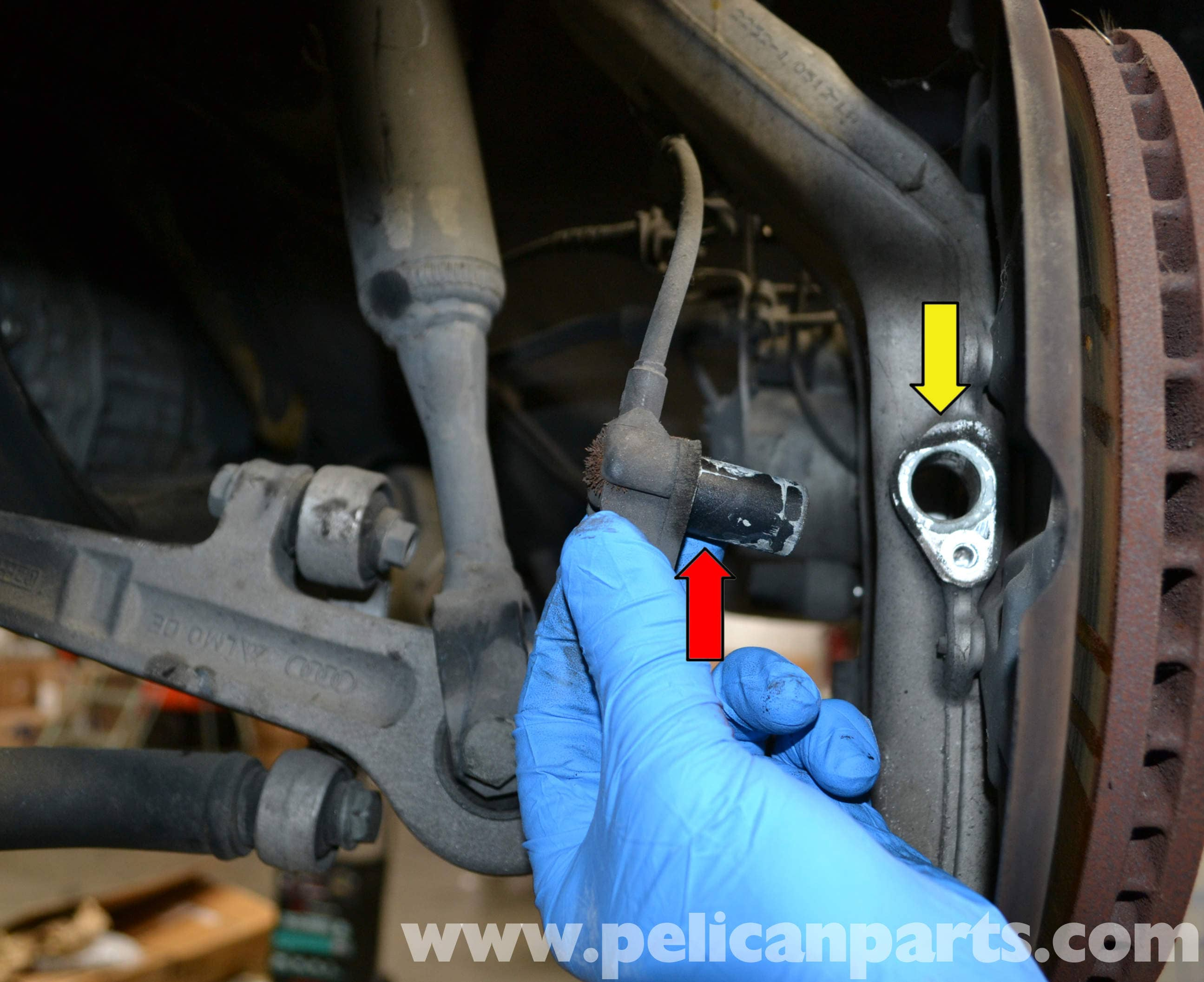 Audi a b abs wheel speed sensor replacement