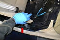 Rear Sensor- The connection for the rear ABS cable in in the rear section of the passenger compartment on each side.