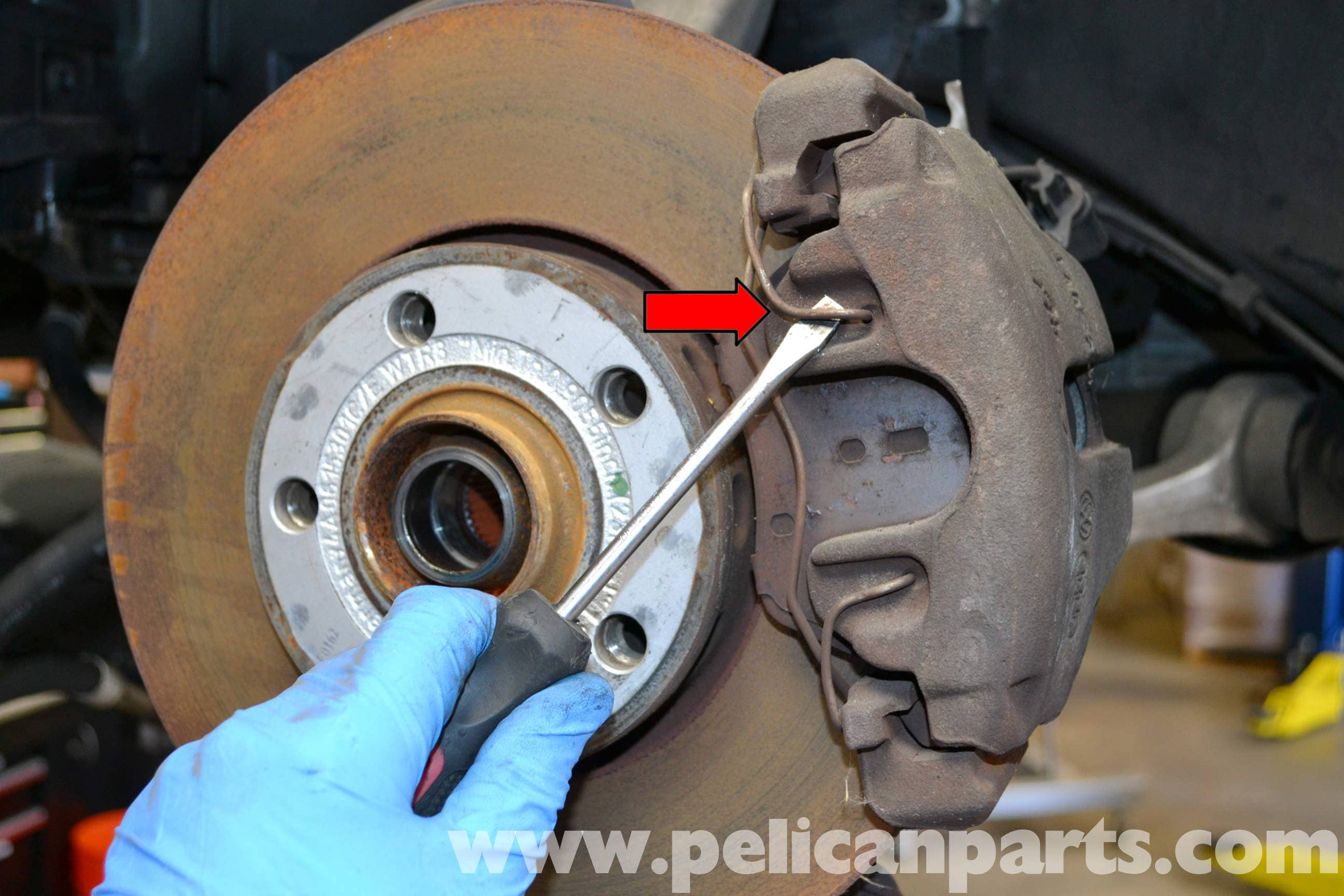 Audi A4 B6 Front Brake Caliper Replacement 2002 2008