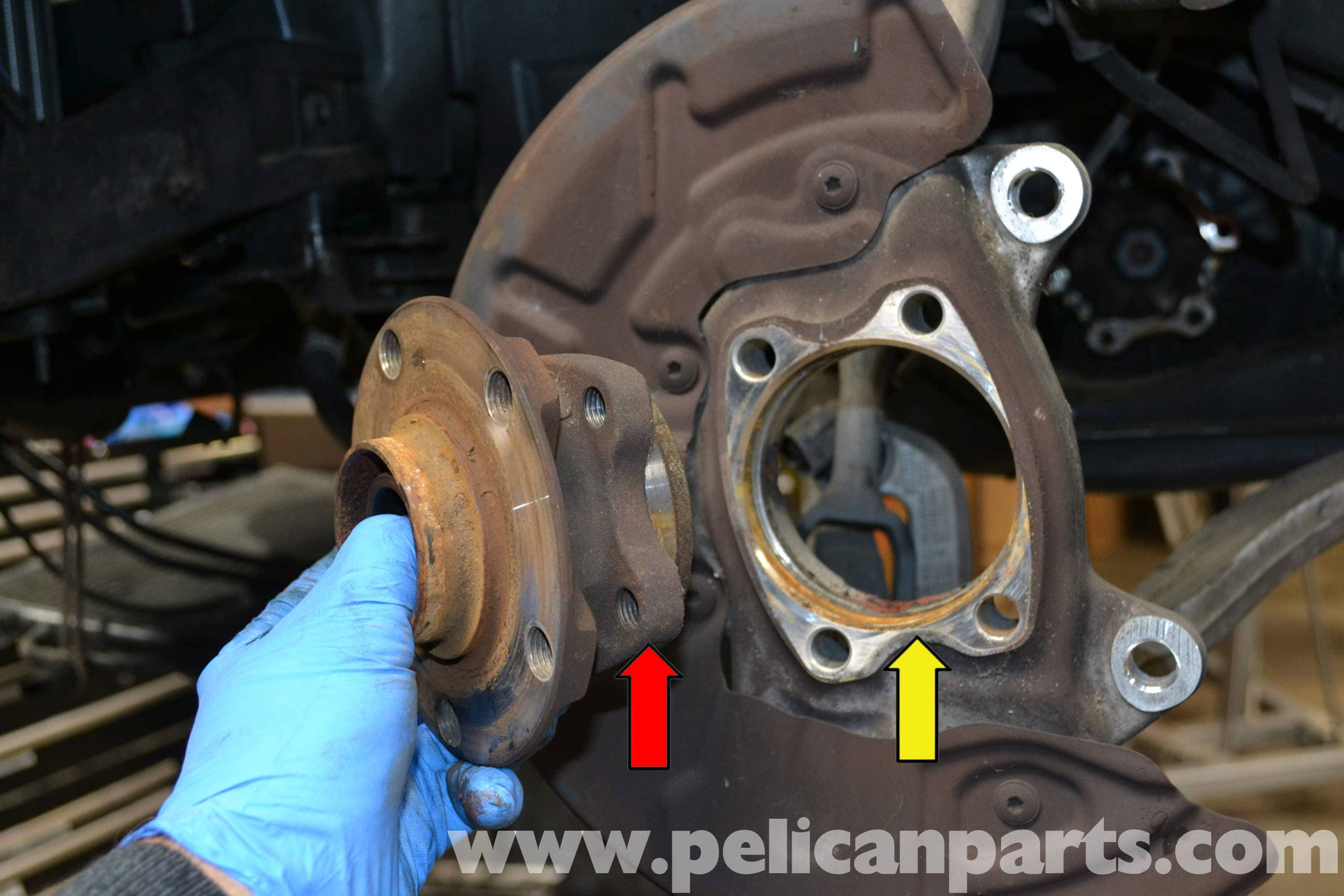 audi a4 b6 front wheel bearing replacement 2002 2008 pelican rh pelicanparts com 2001 Audi A4 Manual Audi A4 Service Manual