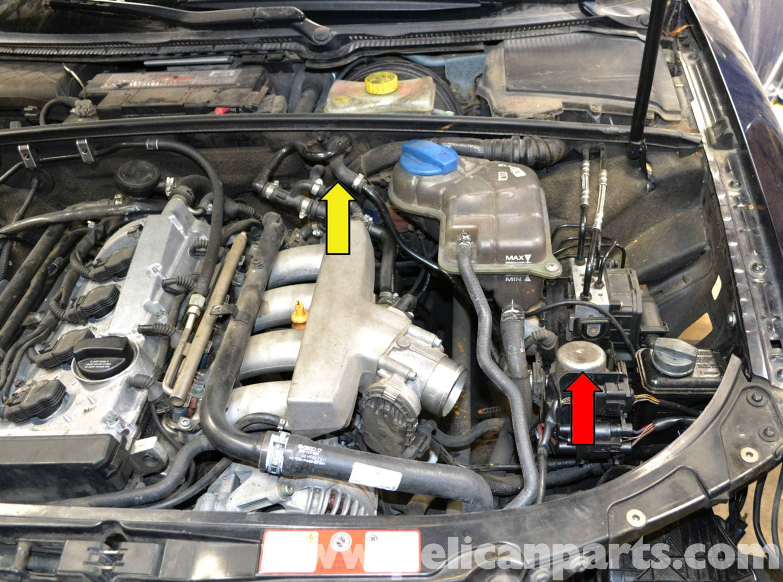 audi a4 b6 brake booster vacuum pump replacement  2002