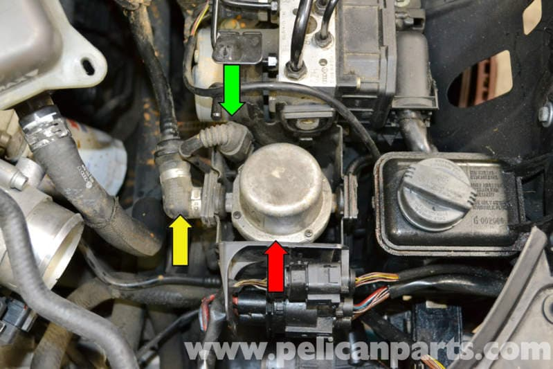 Audi A4 B6 Brake Booster Vacuum Pump Replacement 2002 border=
