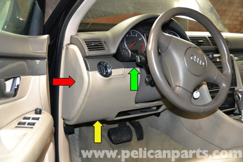 Audi A4 B6 Driver Side Lower Storage Compartment Removal