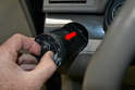 Headlight Switch - Pull the switch out from the dash (red arrow) by the switch knob.