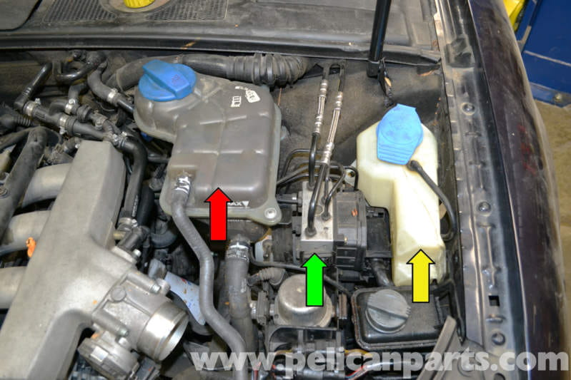Audi A4 B6 Brake Pressure Sensor Replacement 2002 2008
