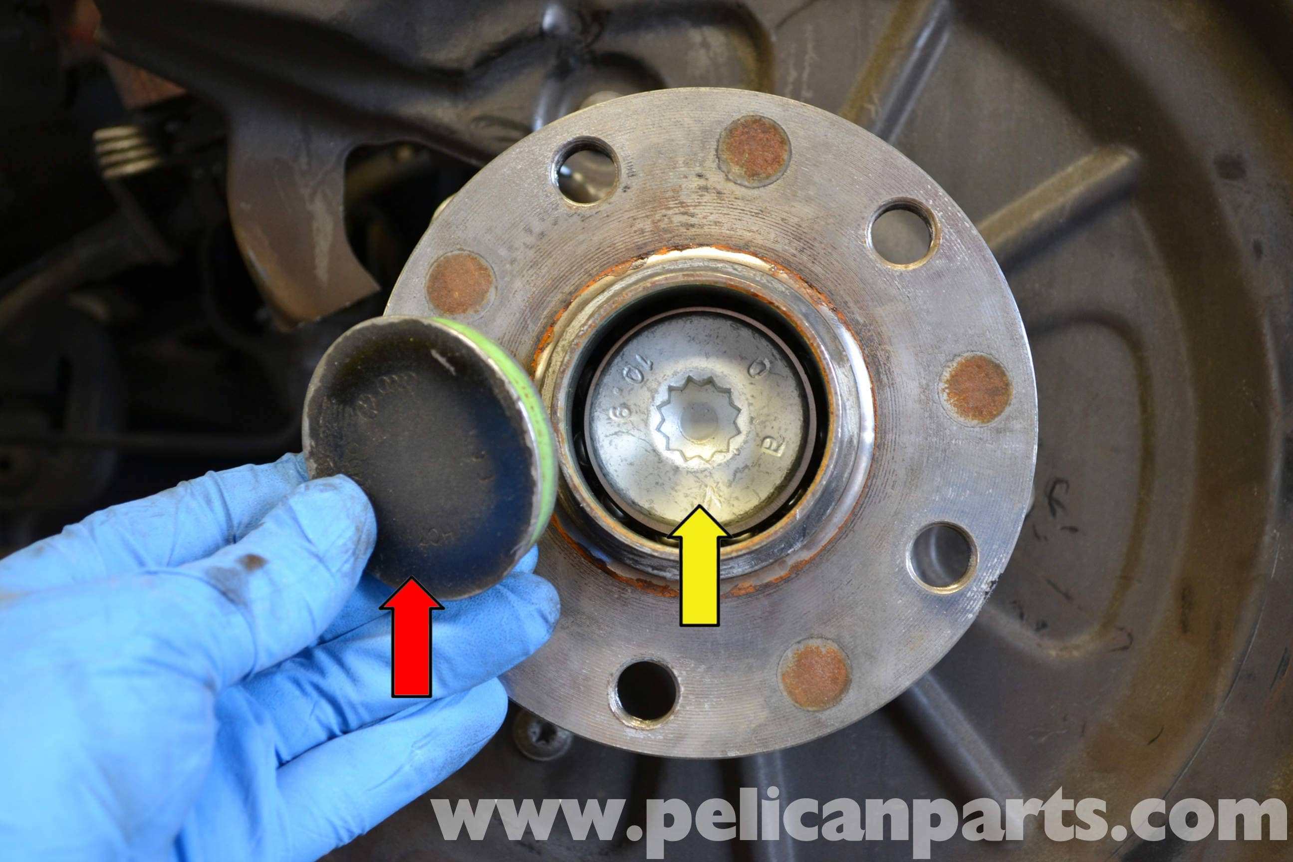 audi a4 b6 rear wheel hub and bearing replacement 2002 2008 rh pelicanparts com 2001 Audi A4 Quattro 2001 Audi A4 1.8T Interior