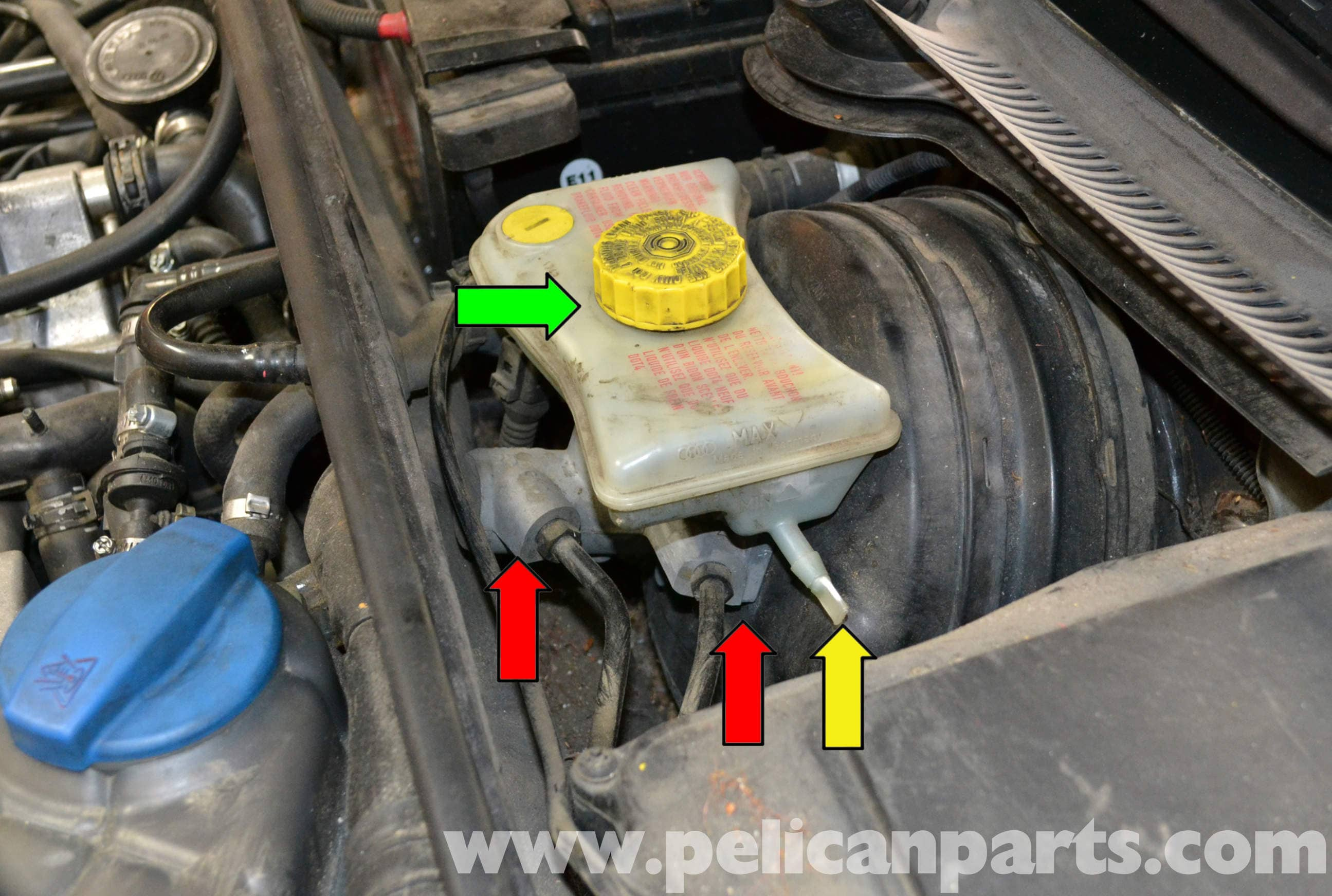 Audi A4 B6 Brake Master Cylinder Replacement 2002 2008