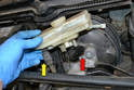 Before removing the reservoir clean around the master cylinder, especially if you are only replacing the reservoir.