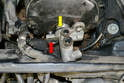 The master cylinder is now free from the booster and can be removed from the vehicle.