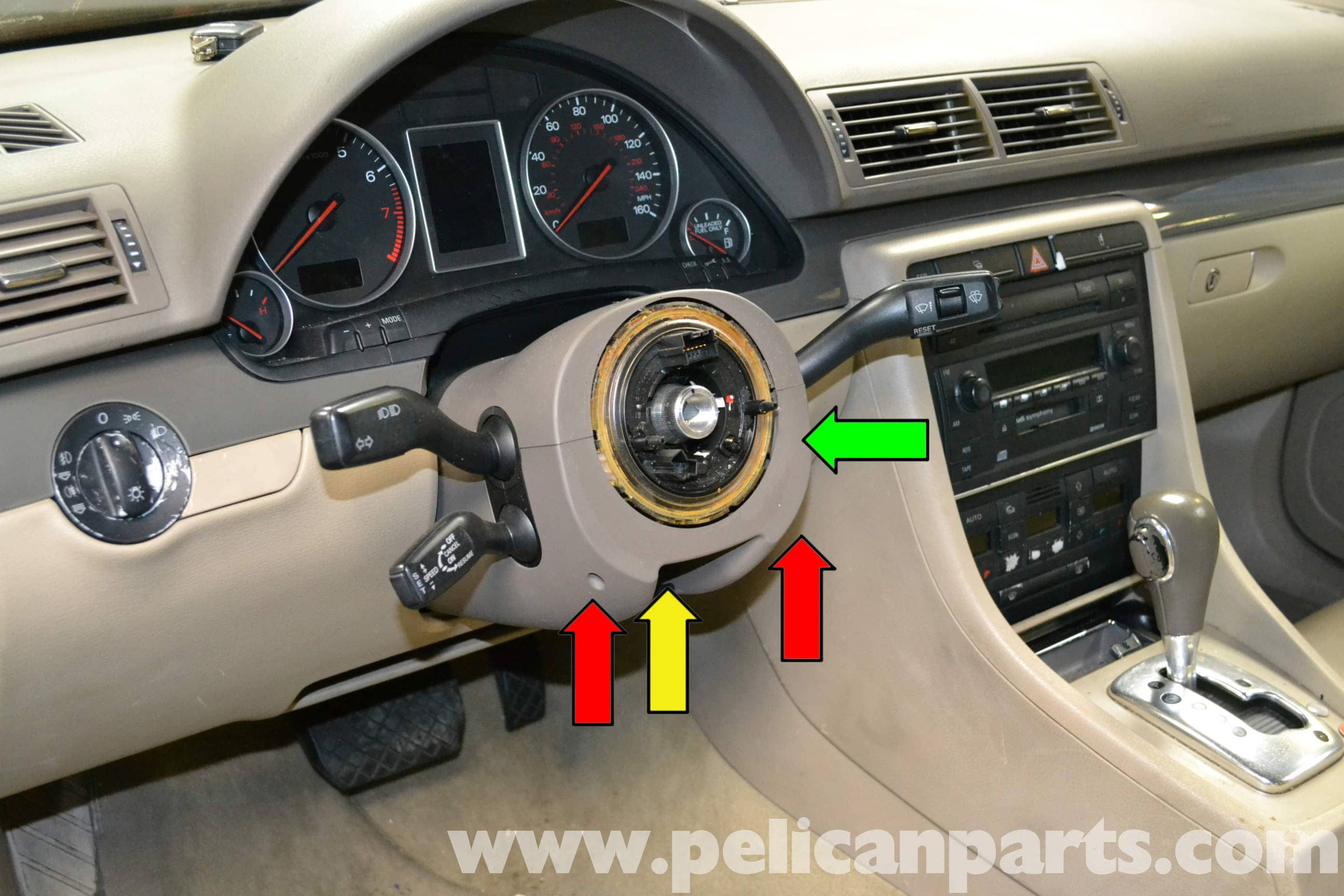 Audi A4 B6 Steering Column Stalks And Switch Replacement