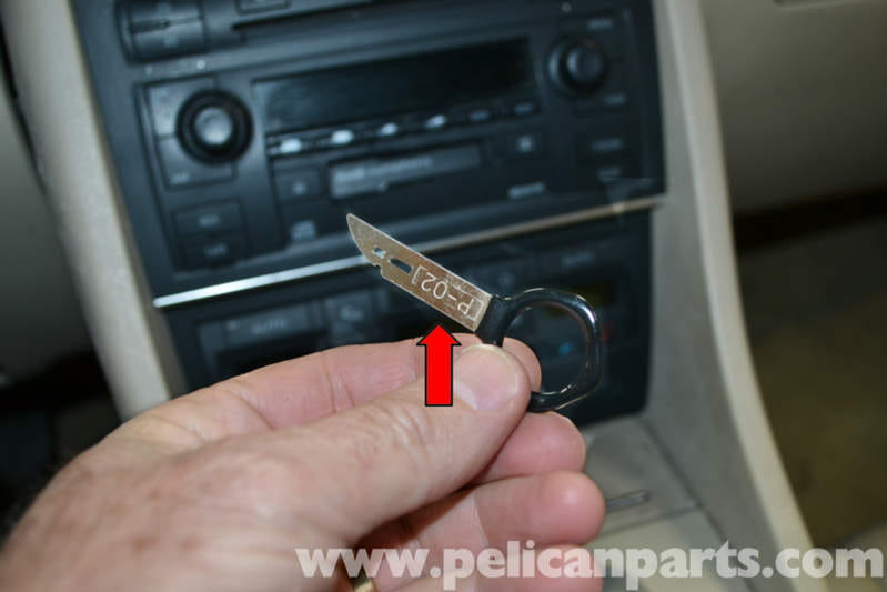 audi a4 b6 radio removal 2002 2008 pelican parts diy maintenance article. Black Bedroom Furniture Sets. Home Design Ideas