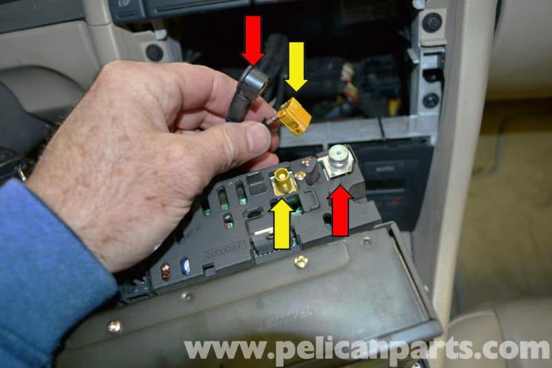audi a4 b6 radio removal 2002 2008 pelican parts diy maintenance rh pelicanparts com 2002 Audi Avant Rear View Mirror for 2000 Audi